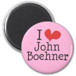 I Love (heart) John Boehner Refrigerator Magnets