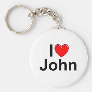 I Love (Heart) John Key Chain