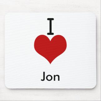 I Love (heart) Jon Mouse Pad