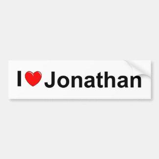 I Love (Heart) Jonathan Bumper Sticker