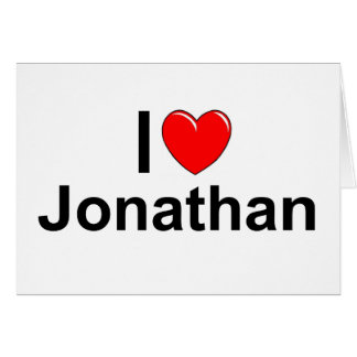 I Love (Heart) Jonathan Card