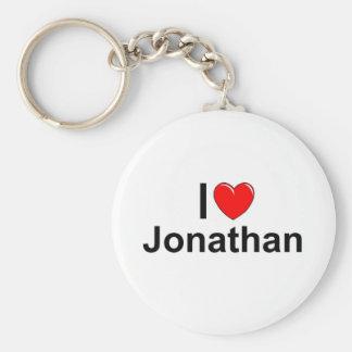 I Love (Heart) Jonathan Keychain