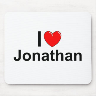 I Love (Heart) Jonathan Mouse Pads