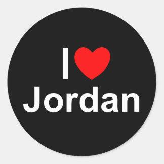 I Love (Heart) Jordan Classic Round Sticker