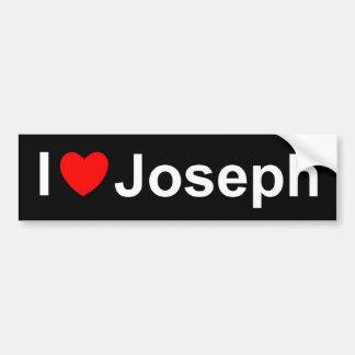 I Love (Heart) Joseph Bumper Sticker