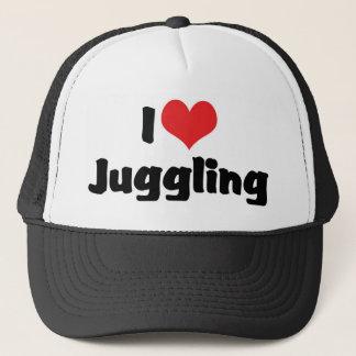 I Love Heart Juggling Trucker Hat