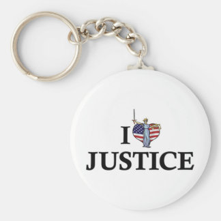 I Love Heart Justice - Lawyer Legal System Keychain