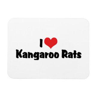I Love Heart Kangaroo Rats Magnet