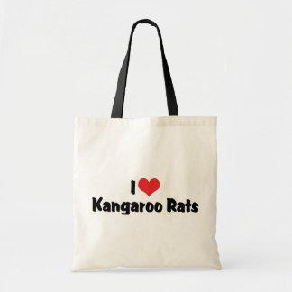 I Love Heart Kangaroo Rats Tote Bag