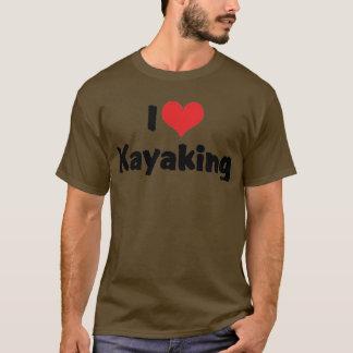 I Love Heart Kayaking - River Rafting T-Shirt