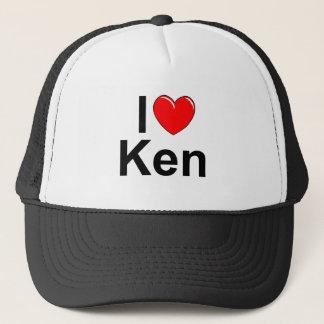 I Love (Heart) Ken Trucker Hat