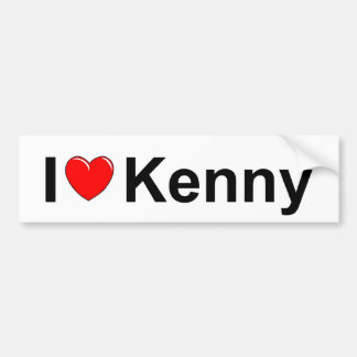 I Love (Heart) Kenny Bumper Sticker