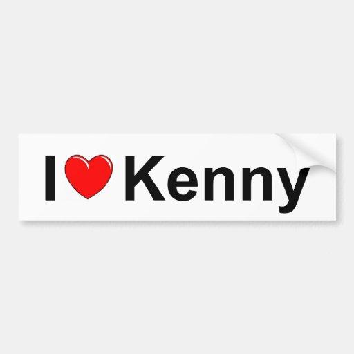 I Love (Heart) Kenny Car Bumper Sticker