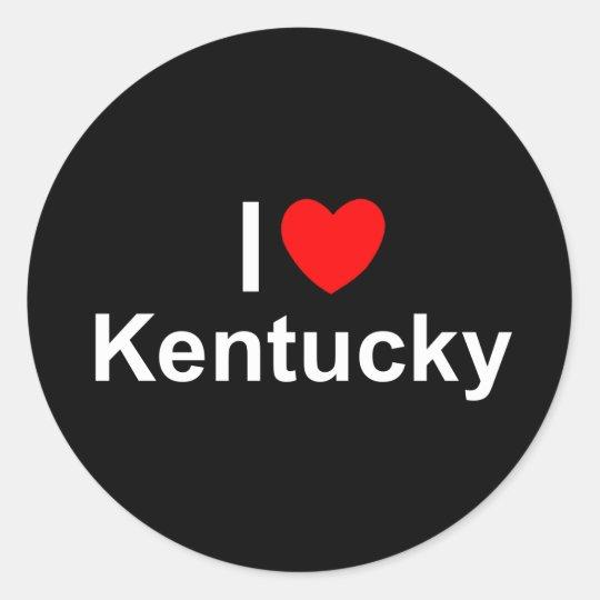 I Love (Heart) Kentucky Classic Round Sticker