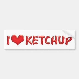 I Love Heart Ketchup - Catsup Lover Bumper Sticker