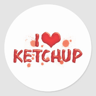 I Love Heart Ketchup - Catsup Lover Classic Round Sticker