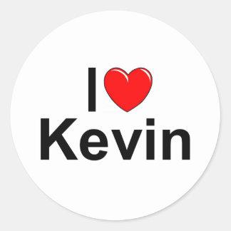 I Love (Heart) Kevin Classic Round Sticker