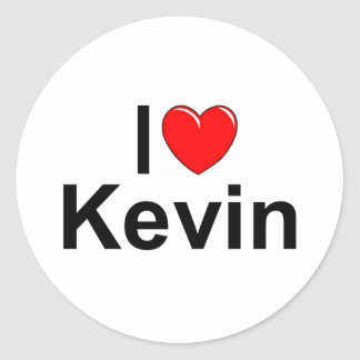 I Love (Heart) Kevin Classic Round Sticker