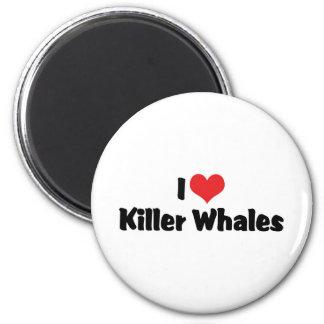 I Love Heart Killer Whales Magnet