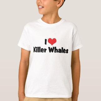 I Love Heart Killer Whales T-Shirt