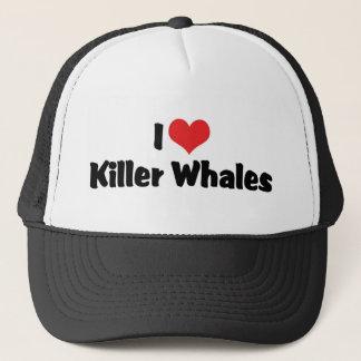 I Love Heart Killer Whales Trucker Hat