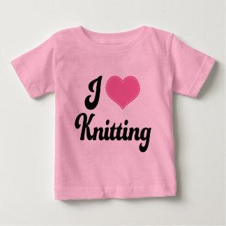 I Love (Heart) Knitting Baby T-Shirt