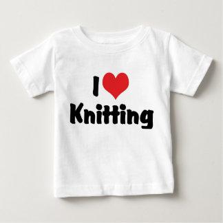 I Love Heart Knitting Baby T-Shirt