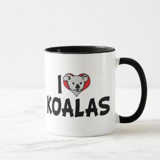I Love Heart Koalas - Koala Bear Lovers Mug