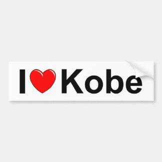 I Love (Heart) Kobe Car Bumper Sticker