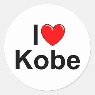 I Love (Heart) Kobe Stickers