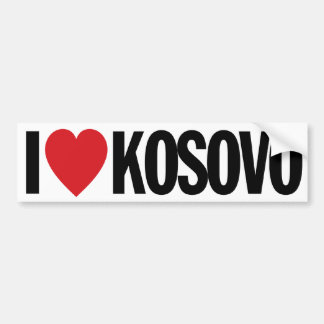 "I Love Heart Kosovo 11"" 28cm Vinyl Decal"