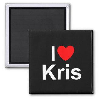 I Love (Heart) Kris Fridge Magnet