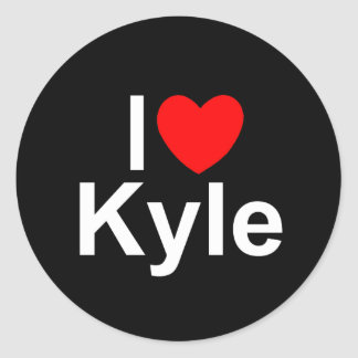 I Love (Heart) Kyle Classic Round Sticker