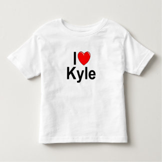 I Love (Heart) Kyle Toddler T-shirt