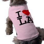 I Love Heart LA Doggie T Shirt