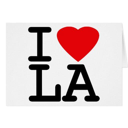 I Love Heart LA Greeting Cards