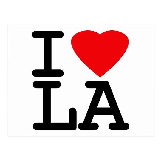I Love Heart LA Postcard