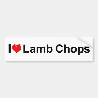 I Love (Heart) Lamb Chops Car Bumper Sticker