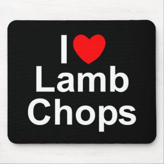I Love (Heart) Lamb Chops Mouse Pad