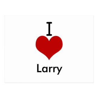 I Love (heart) Larry Postcard