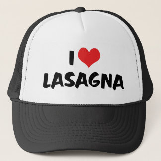 I Love Heart Lasagna - Italian Food Pasta Lover Trucker Hat