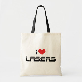 I Love Heart Lasers - Science & Technology Lovers Tote Bag