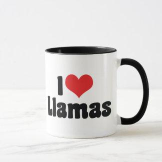 I Love Heart Llamas Mug