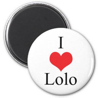 I Love (Heart) Lolo 2 Inch Round Magnet