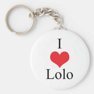 I Love (Heart) Lolo Basic Round Button Keychain