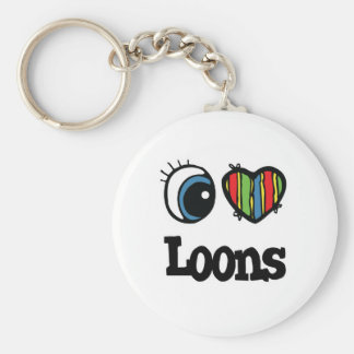 I Love (Heart) Loons Keychain