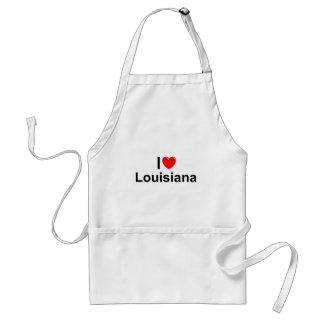I Love (Heart) Louisiana Adult Apron