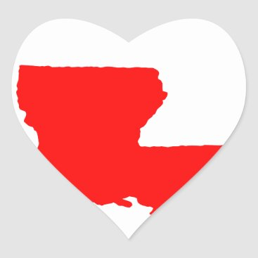 I Love (Heart) Louisiana Heart Sticker