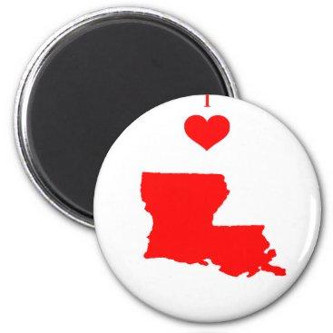 I Love (Heart) Louisiana Magnet