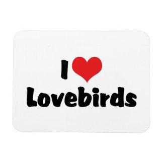 I Love Heart Lovebirds Magnet